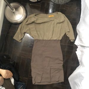 Alice and Olivia Olive Green Dress size 4
